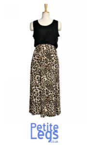 Kaysie Super Soft Petite Leopard Casual Fit Midi Dress| UK 4-12